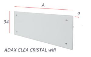 Adax CLEA Cristal WIFI