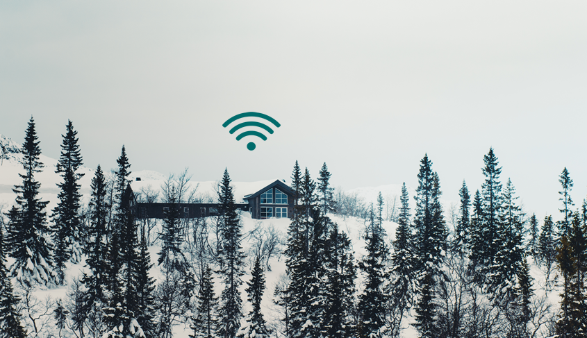 casa en el bosque con wifi